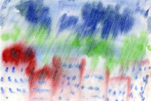 рисунок по мокрому 2
